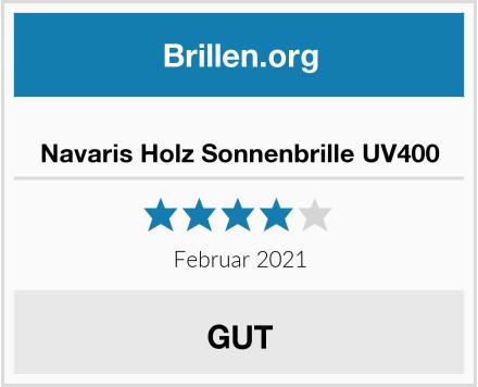 Navaris Holz Sonnenbrille UV400 Test