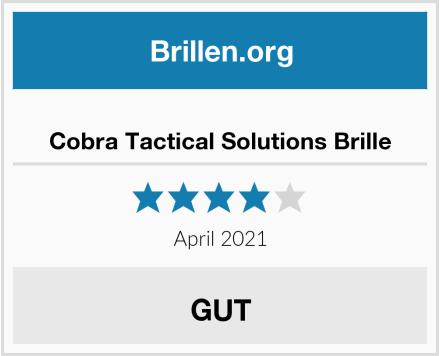 Cobra Tactical Solutions Brille Test