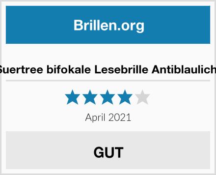 Suertree bifokale Lesebrille Antiblaulicht Test