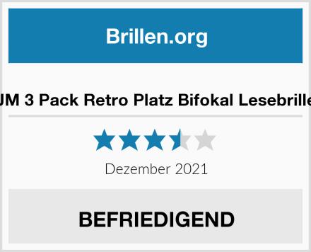 JM 3 Pack Retro Platz Bifokal Lesebrille Test