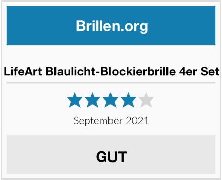 LifeArt Blaulicht-Blockierbrille 4er Set Test