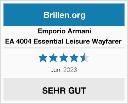 Emporio Armani EA 4004 Essential Leisure Wayfarer  Test