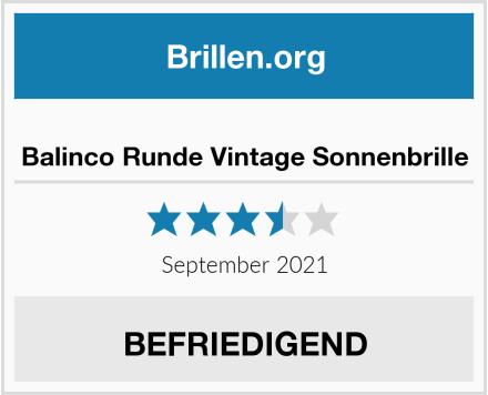 No Name Balinco Runde Vintage Sonnenbrille Test