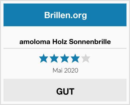 amoloma Holz Sonnenbrille Test