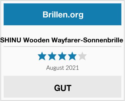 No Name SHINU Wooden Wayfarer-Sonnenbrille  Test