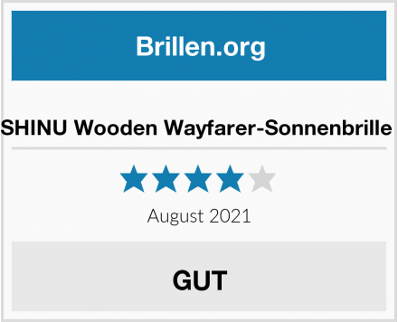 SHINU Wooden Wayfarer-Sonnenbrille  Test