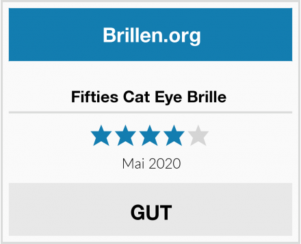 Fifties Cat Eye Brille  Test