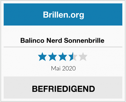 No Name Balinco Nerd Sonnenbrille  Test
