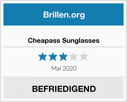 Cheapass Sunglasses Test