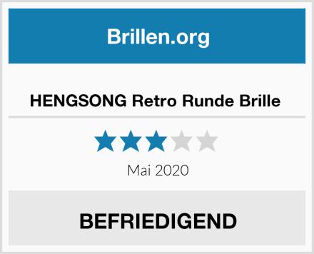 HENGSONG Retro Runde Brille  Test