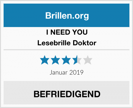 I NEED YOU Lesebrille Doktor Test
