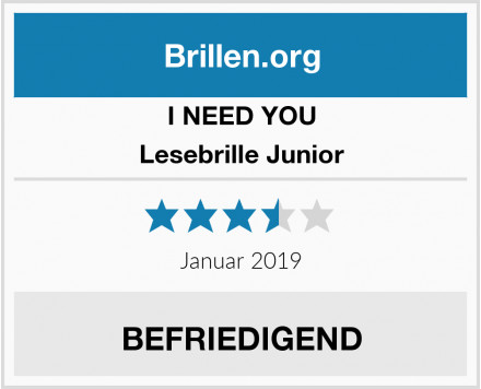 I NEED YOU Lesebrille Junior Test