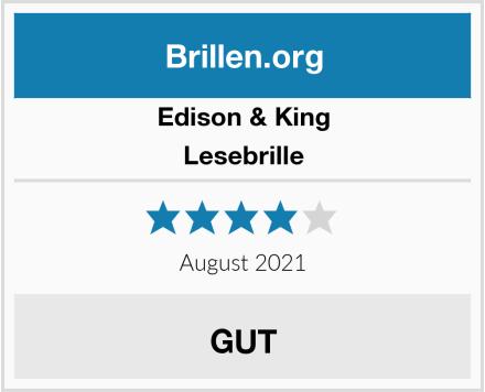 Edison & King Lesebrille Test