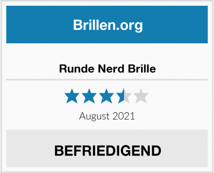 No Name Runde Nerd Brille Test