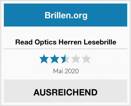 Read Optics Herren Lesebrille Test