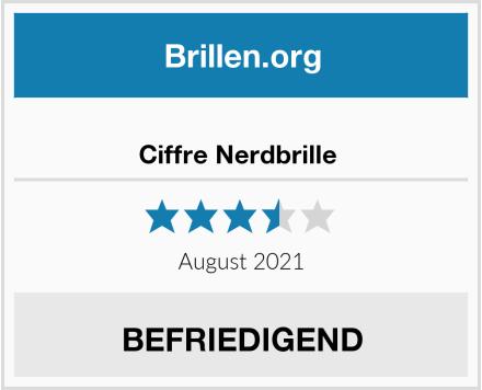 No Name Ciffre Nerdbrille  Test