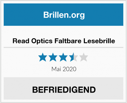 Read Optics Faltbare Lesebrille Test