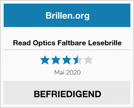 Read Optics Faltbare Lesebrille Test