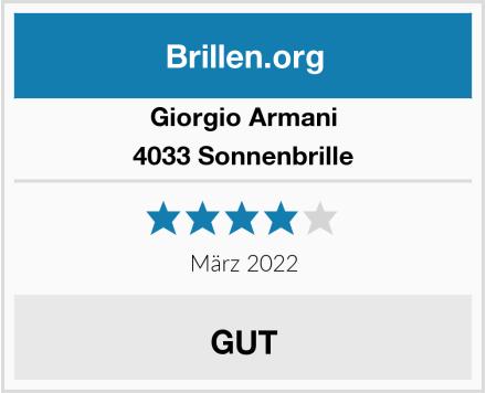 Giorgio Armani 4033 Sonnenbrille Test