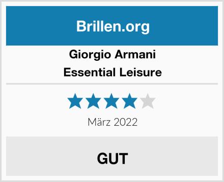 Giorgio Armani Essential Leisure Test