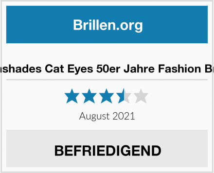 amashades Cat Eyes 50er Jahre Fashion Brille  Test