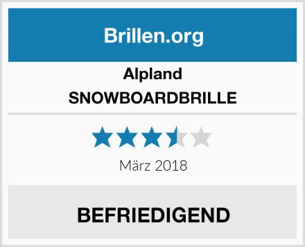 Alpland SNOWBOARDBRILLE Test