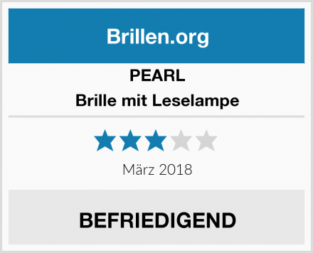 PEARL Brille mit Leselampe Test