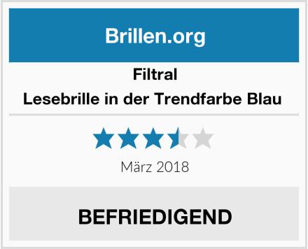 Filtral Lesebrille in der Trendfarbe Blau  Test