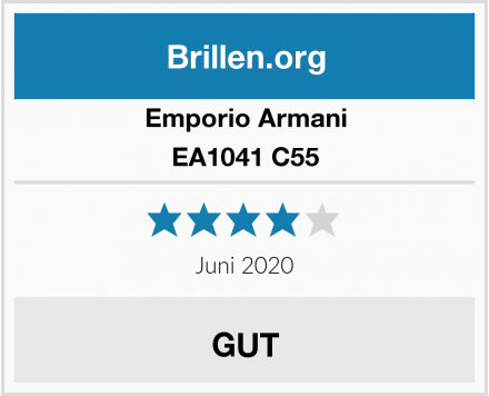 Emporio Armani EA1041 C55 Test