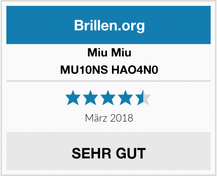 Miu Miu MU10NS HAO4N0 Test