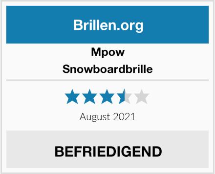 Mpow Snowboardbrille Test