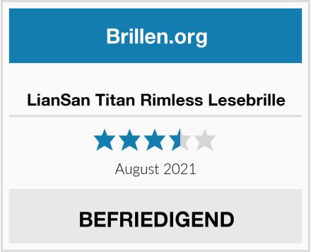 LianSan Titan Rimless Lesebrille Test