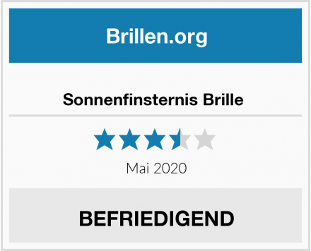 Sonnenfinsternis Brille  Test