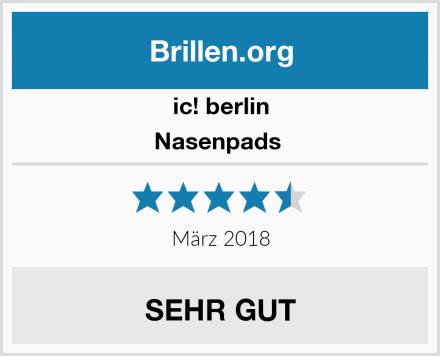 ic! berlin Nasenpads  Test