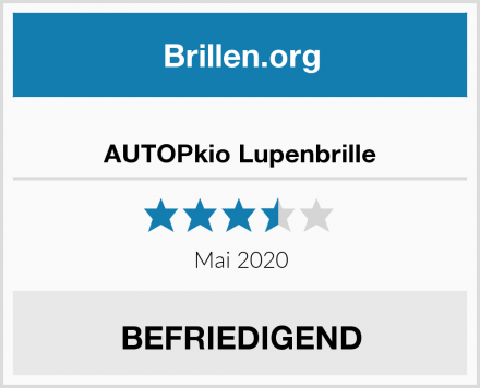 AUTOPkio Lupenbrille Test