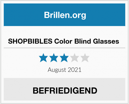 SHOPBIBLES Color Blind Glasses  Test