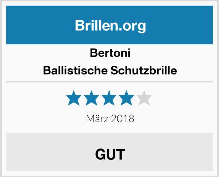 Bertoni Ballistische Schutzbrille Test