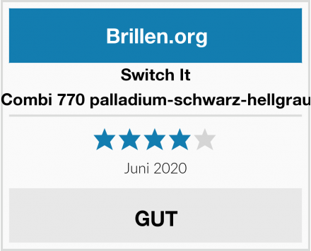 Switch It Combi 770 palladium-schwarz-hellgrau Test