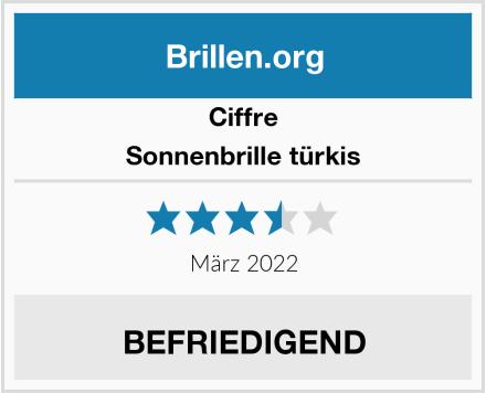 Ciffre Sonnenbrille türkis Test
