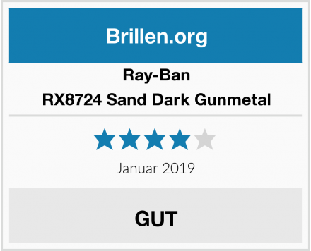 Ray-Ban RX8724 Sand Dark Gunmetal Test
