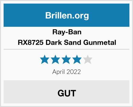 Ray-Ban RX8725 Dark Sand Gunmetal Test