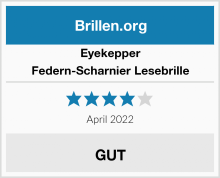 Eyekepper Federn-Scharnier Lesebrille Test