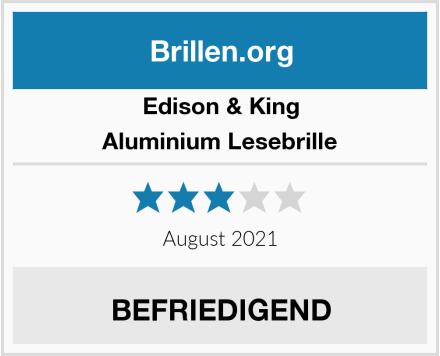 Edison & King Aluminium Lesebrille Test