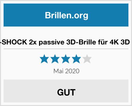 Hi-SHOCK 2x passive 3D-Brille für 4K 3D TV Test