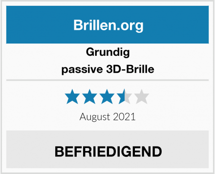 Grundig passive 3D-Brille Test