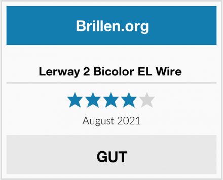 Lerway 2 Bicolor EL Wire  Test