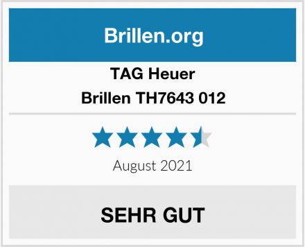 TAG Heuer Brillen TH7643 012 Test