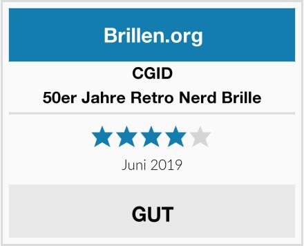 CGID 50er Jahre Retro Nerd Brille Test