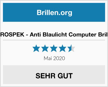 PROSPEK - Anti Blaulicht Computer Brille Test
