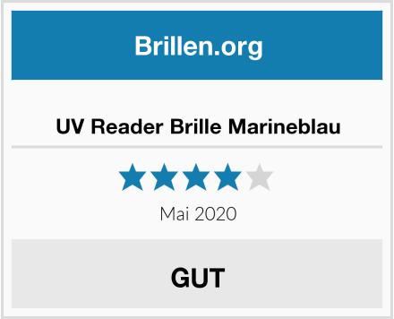 No Name UV Reader Brille Marineblau Test
